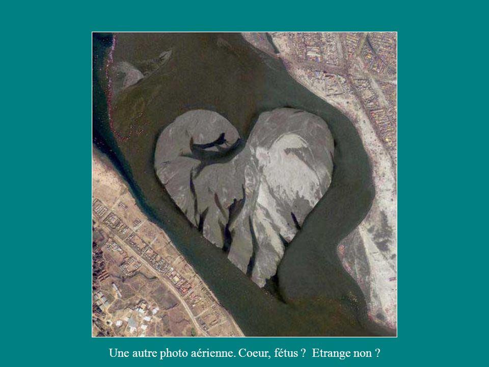 Une autre photo aérienne. Coeur, fétus Etrange non