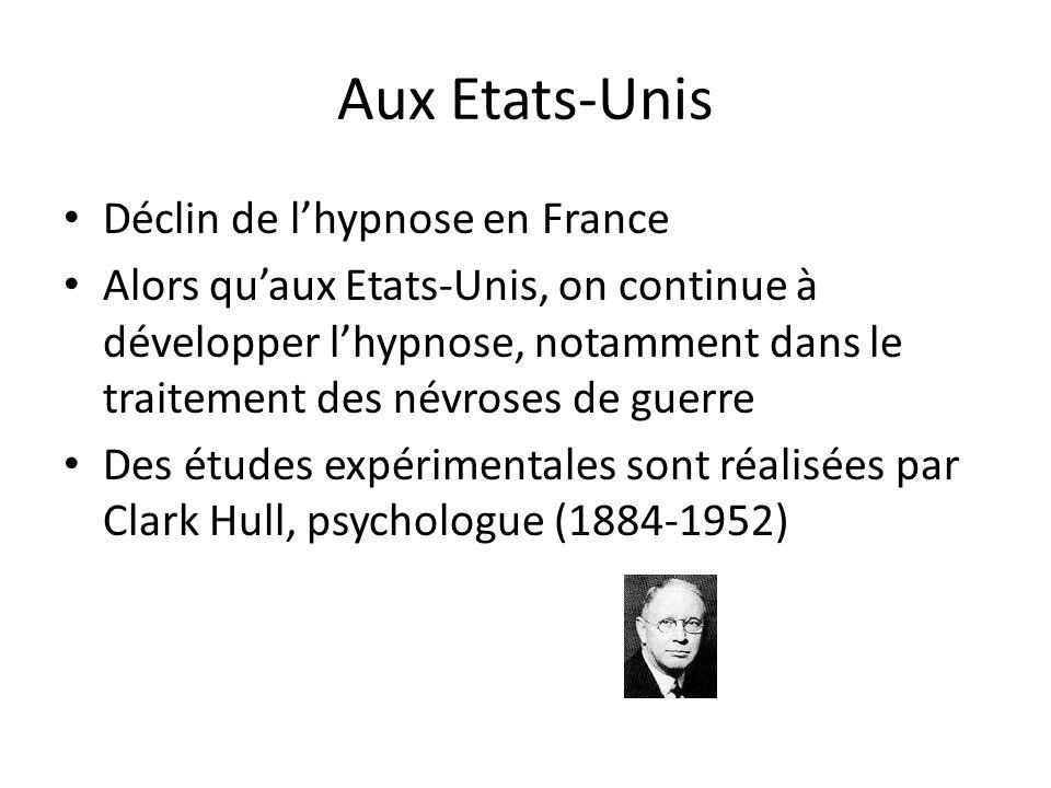 Aux Etats-Unis Déclin de l'hypnose en France