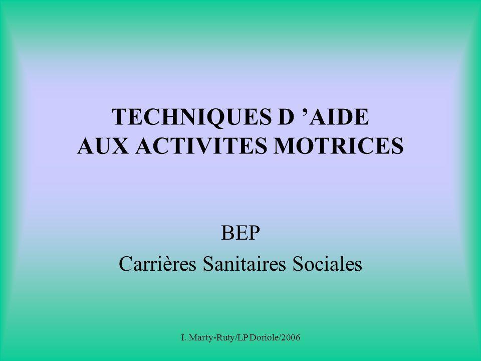 TECHNIQUES D 'AIDE AUX ACTIVITES MOTRICES