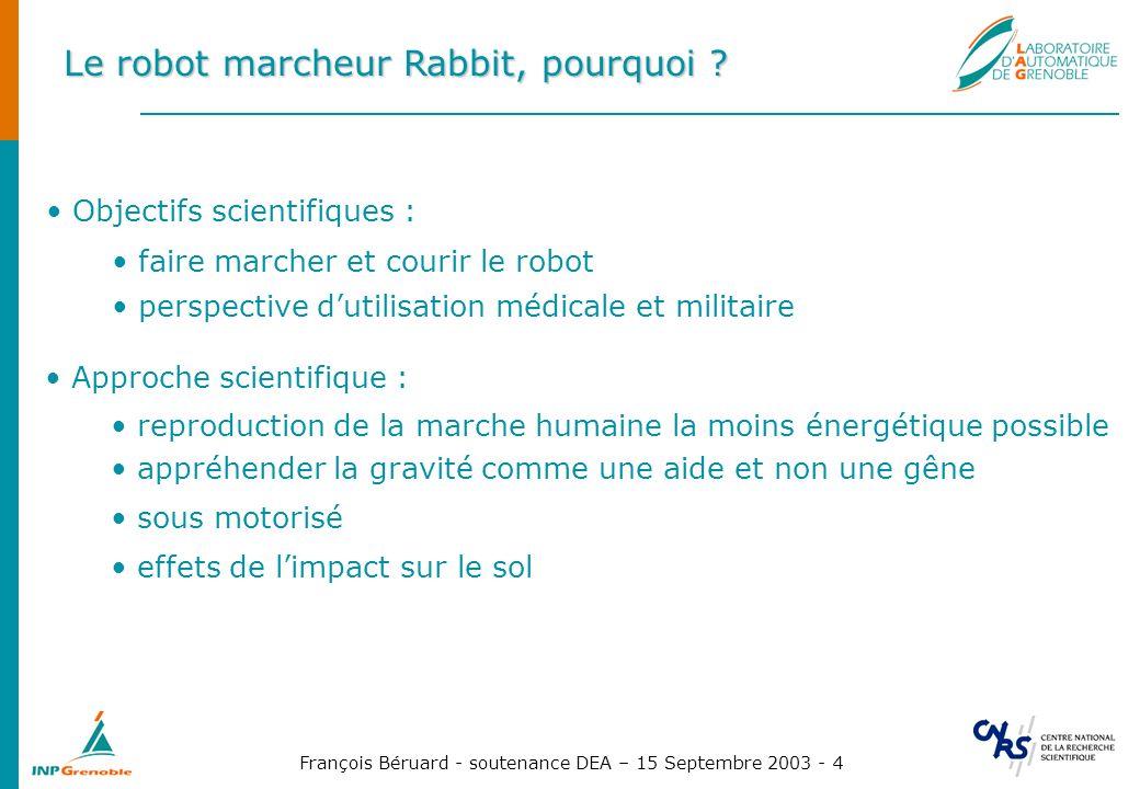 Le robot marcheur Rabbit, pourquoi
