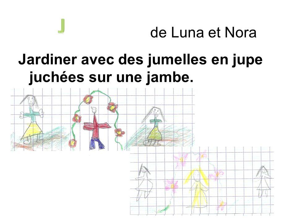J de Luna et Nora Jardiner avec des jumelles en jupe juchées sur une jambe.