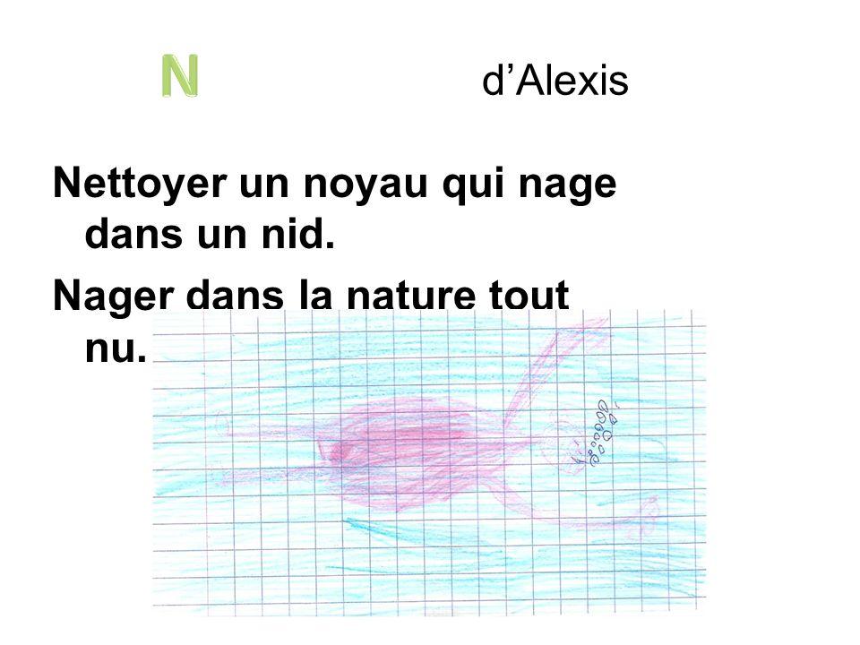 d'Alexis N Nettoyer un noyau qui nage dans un nid. Nager dans la nature tout nu.