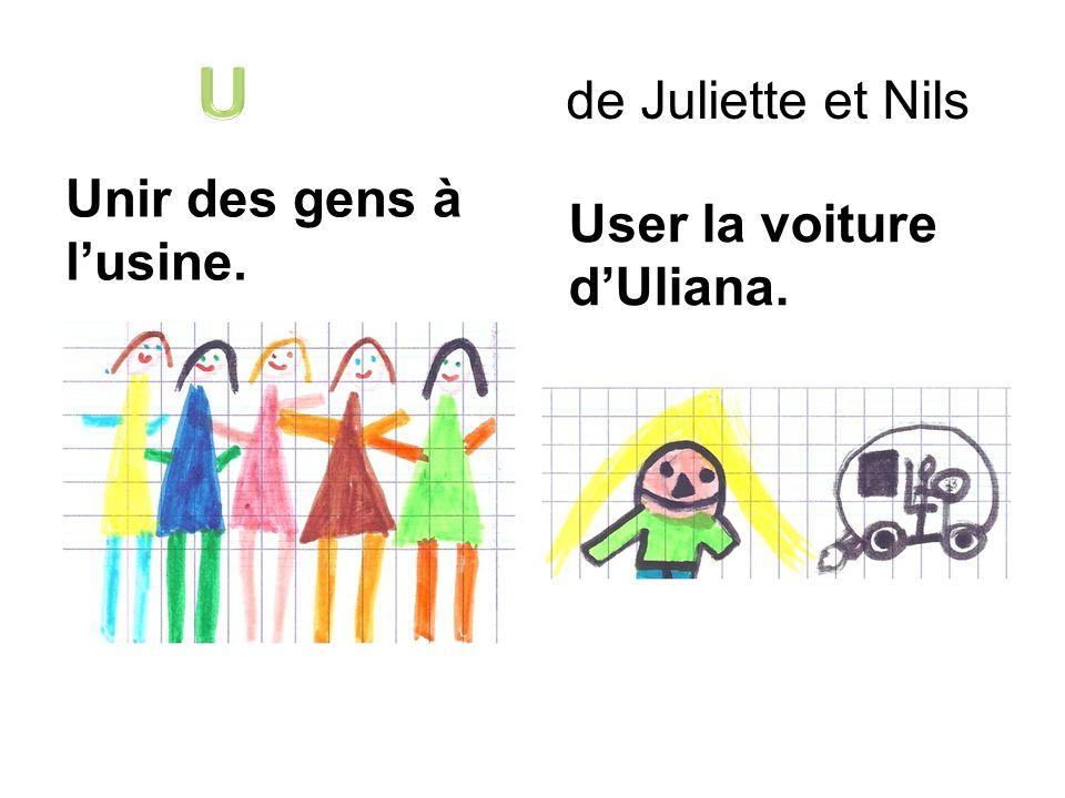 U de Juliette et Nils Unir des gens à l'usine.