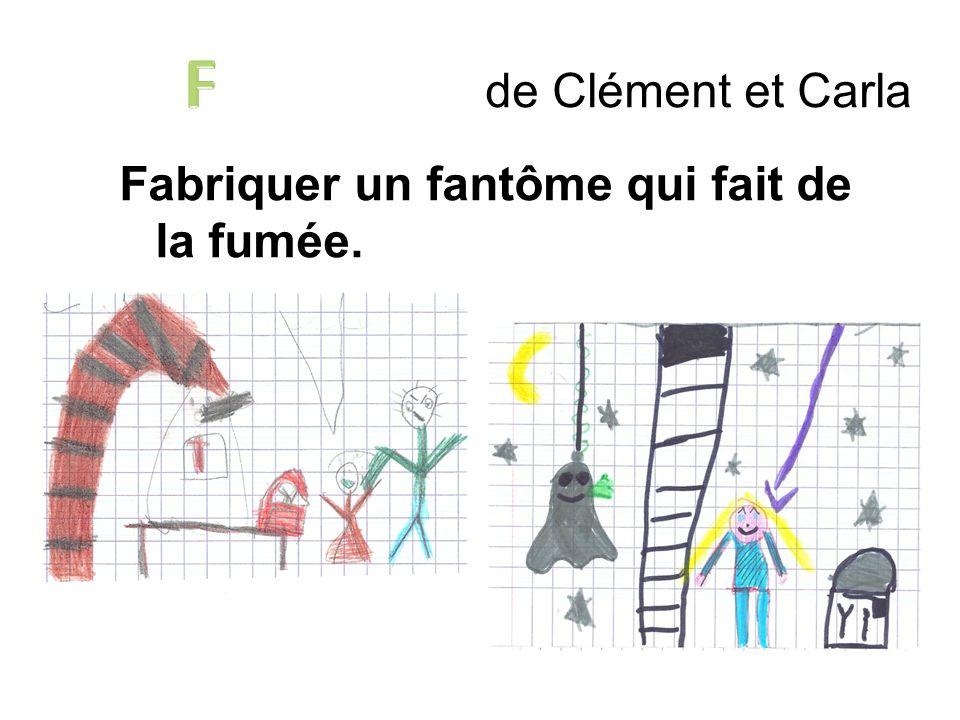 F de Clément et Carla Fabriquer un fantôme qui fait de la fumée.