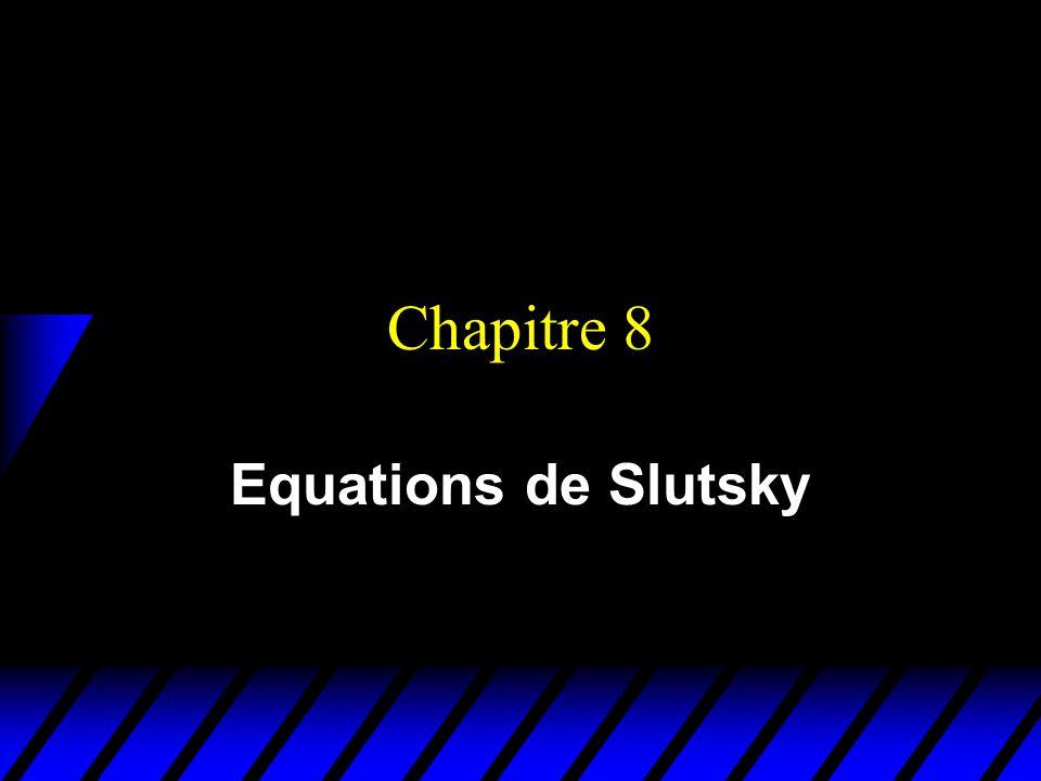 Chapitre 8 Equations de Slutsky