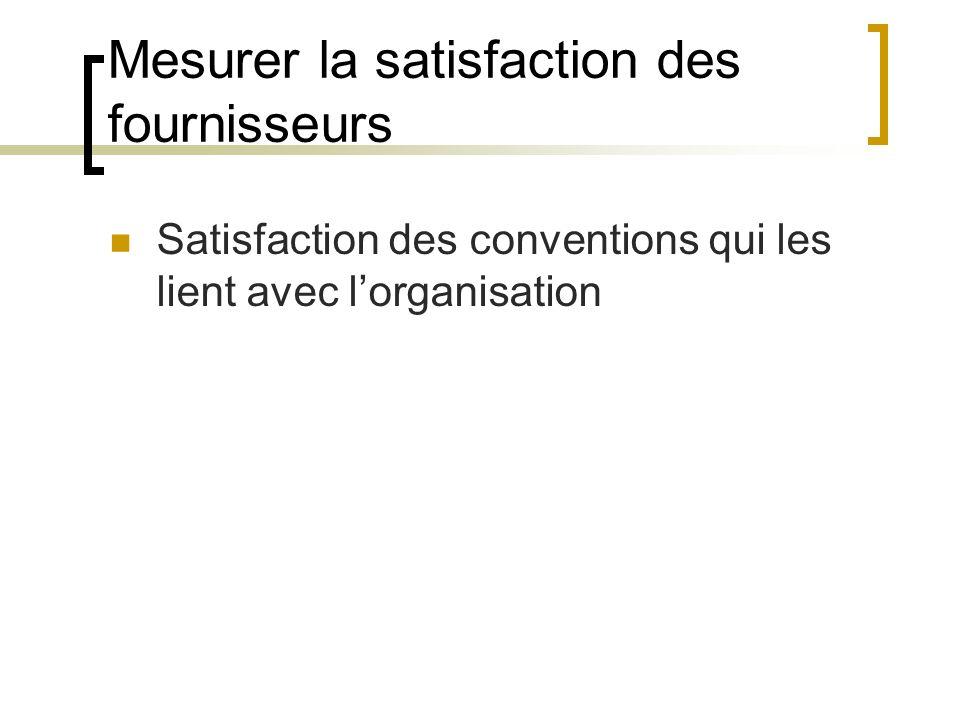 Mesurer la satisfaction des fournisseurs