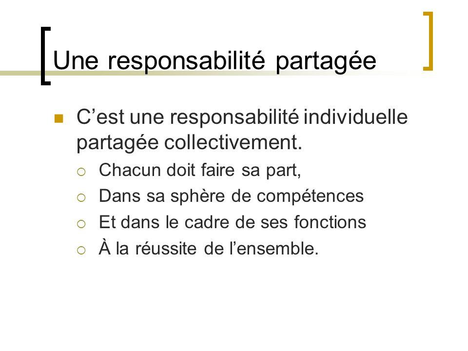 Une responsabilité partagée