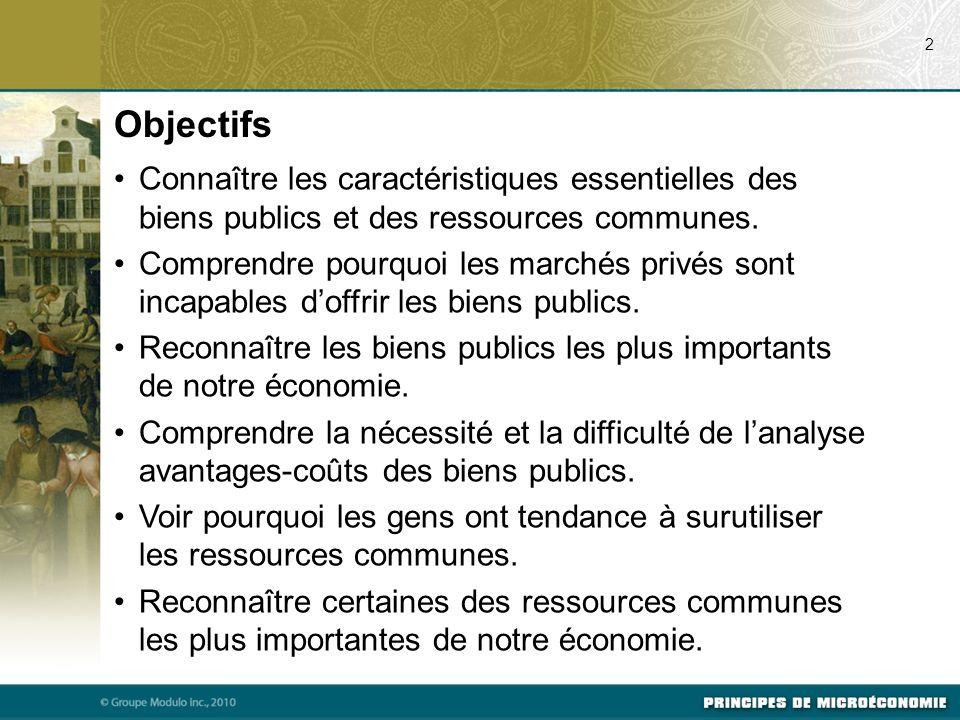 07/22/09 2. Objectifs. Connaître les caractéristiques essentielles des biens publics et des ressources communes.