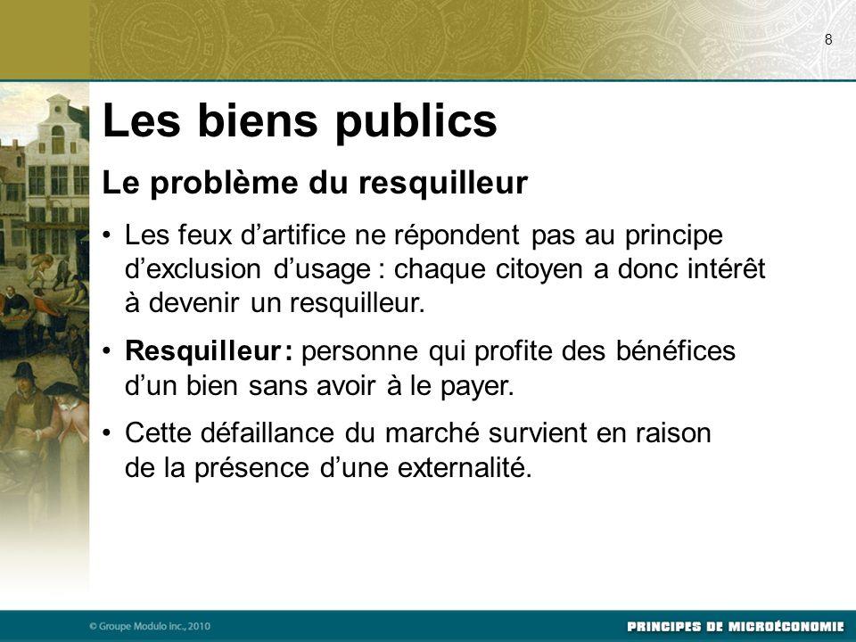 Les biens publics Le problème du resquilleur