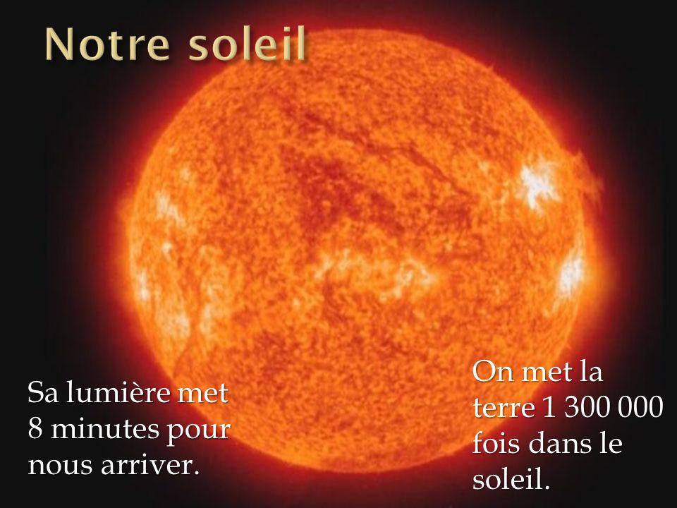Notre soleil On met la terre 1 300 000 fois dans le soleil.