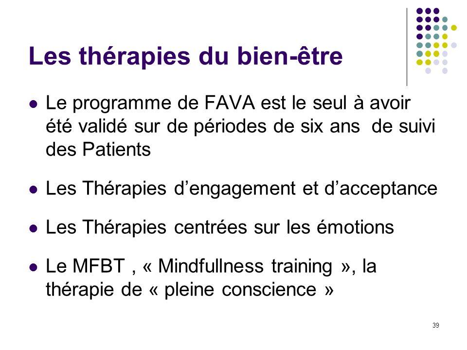 Les thérapies du bien-être