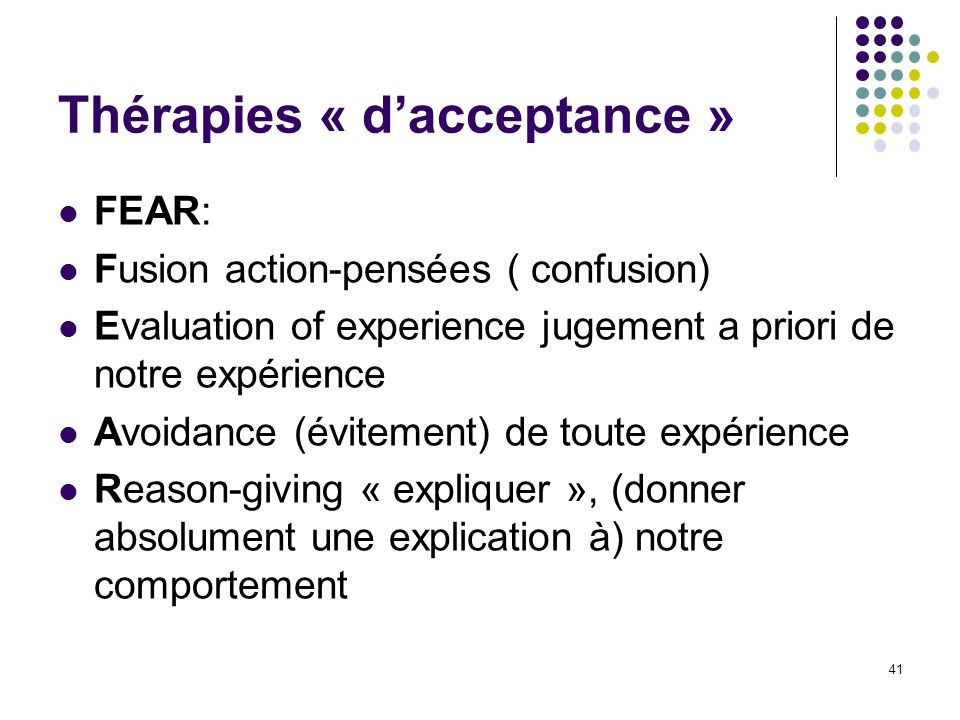 Thérapies « d'acceptance »