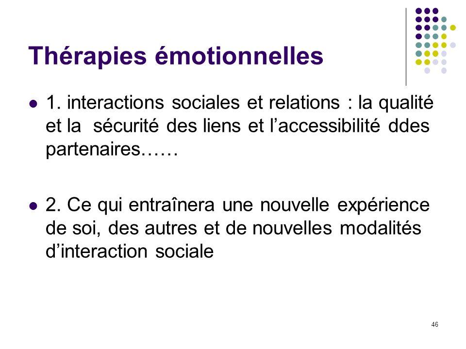 Thérapies émotionnelles
