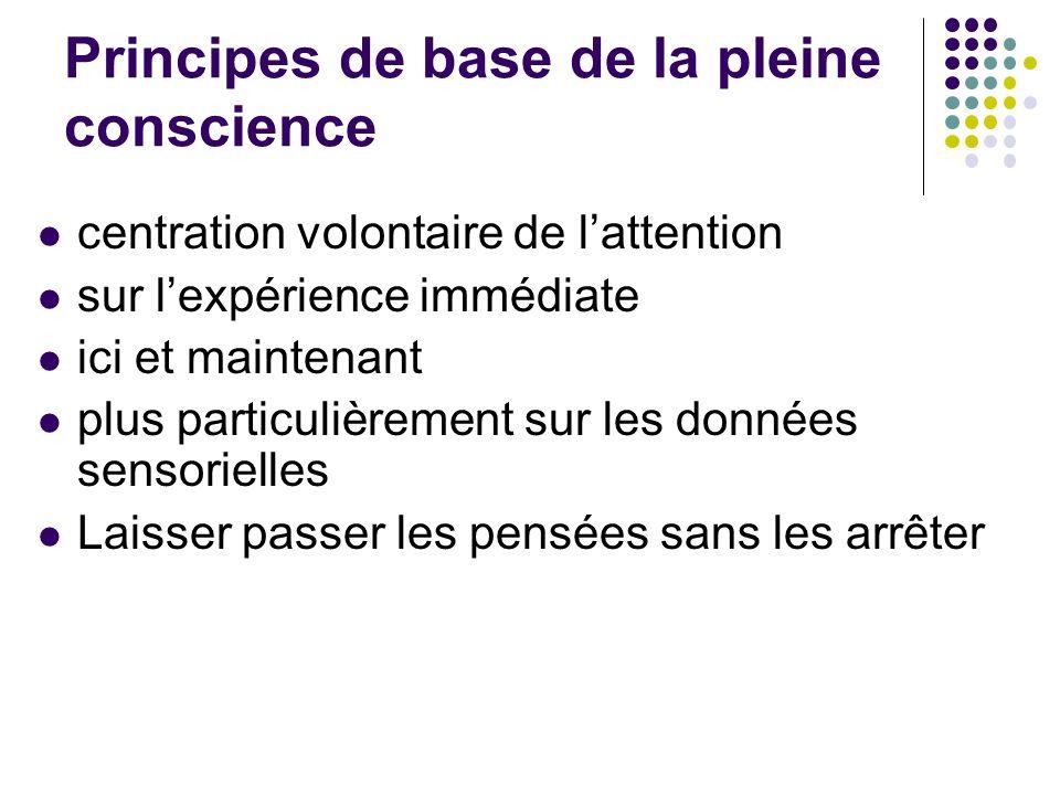 Principes de base de la pleine conscience