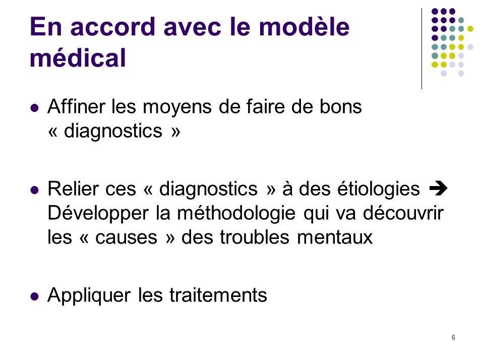 En accord avec le modèle médical