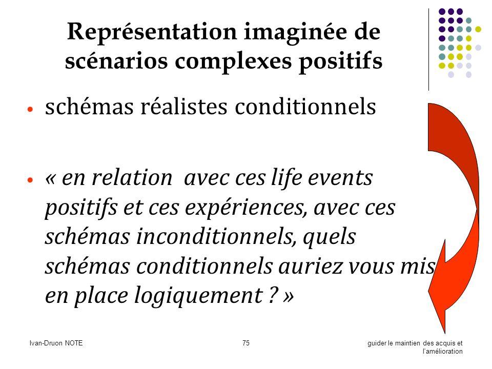 Représentation imaginée de scénarios complexes positifs
