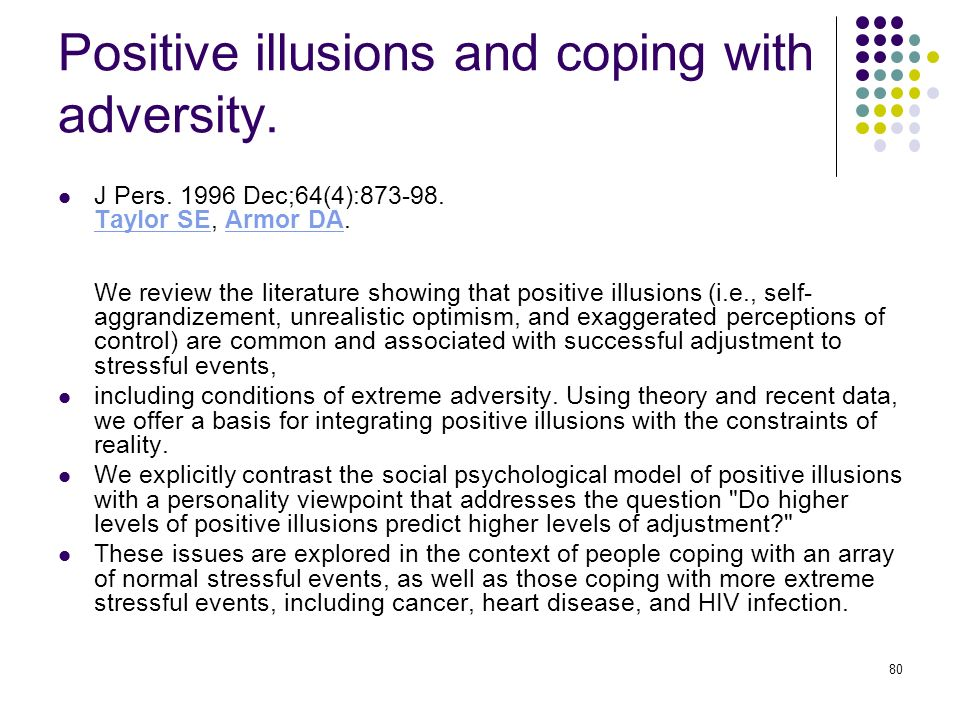 Positive illusions and coping with adversity.