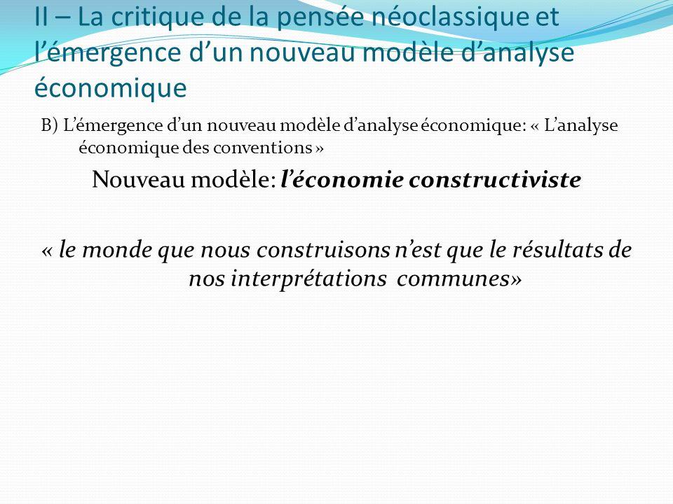 Nouveau modèle: l'économie constructiviste