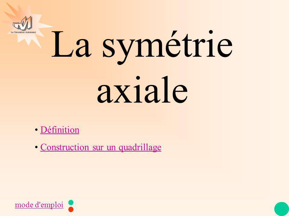 La symétrie axiale Définition Construction sur un quadrillage