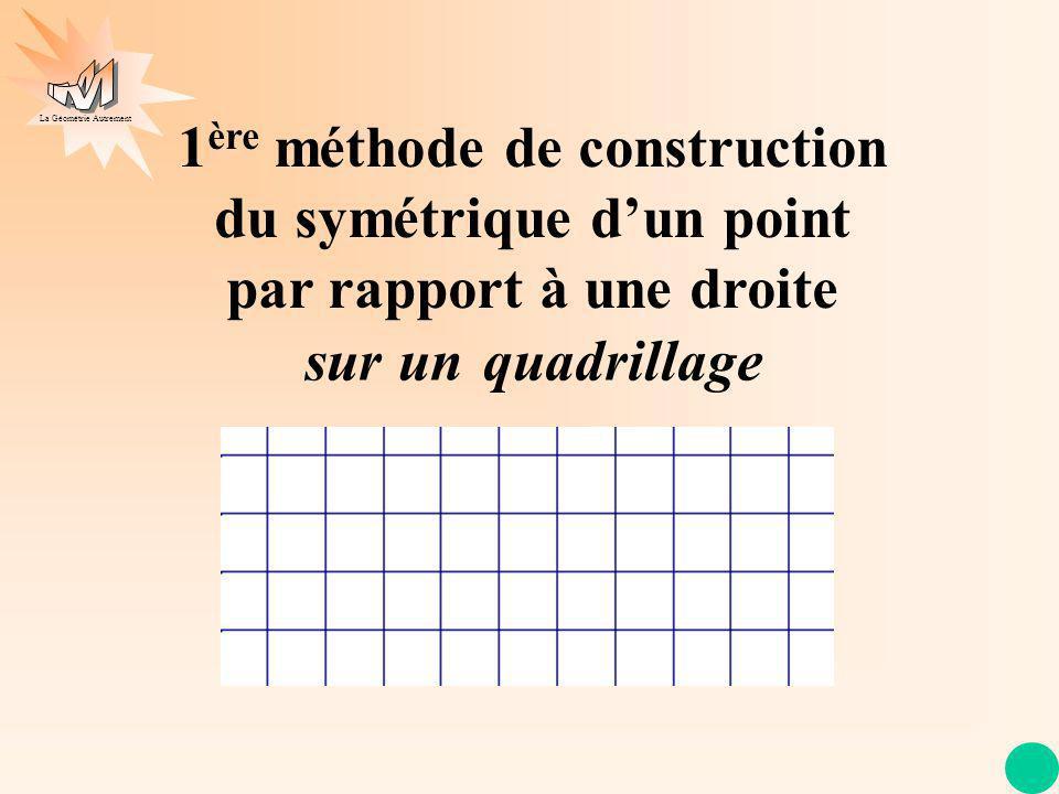 1ère méthode de construction du symétrique d'un point par rapport à une droite