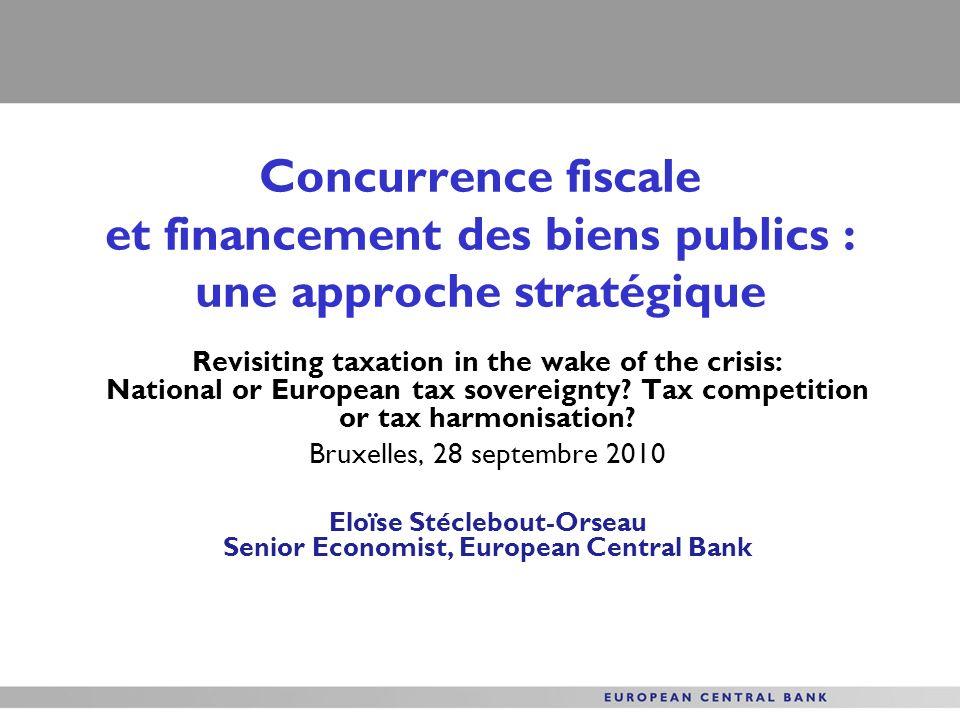 Eloïse Stéclebout-Orseau Senior Economist, European Central Bank