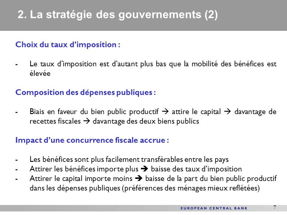 2. La stratégie des gouvernements (2)