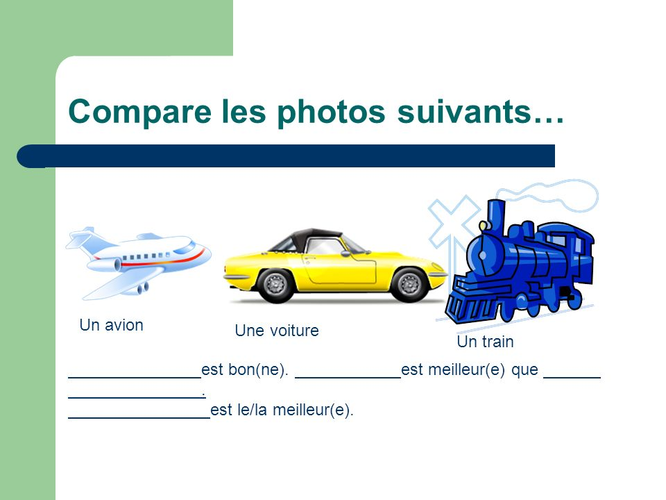 Compare les photos suivants…