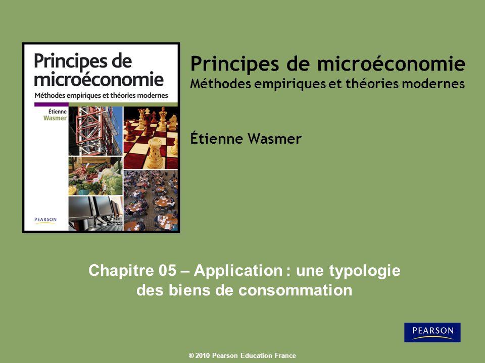Chapitre 05 – Application : une typologie des biens de consommation