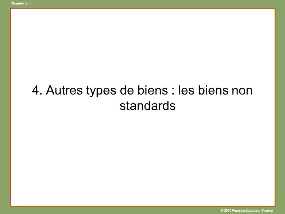 4. Autres types de biens : les biens non standards