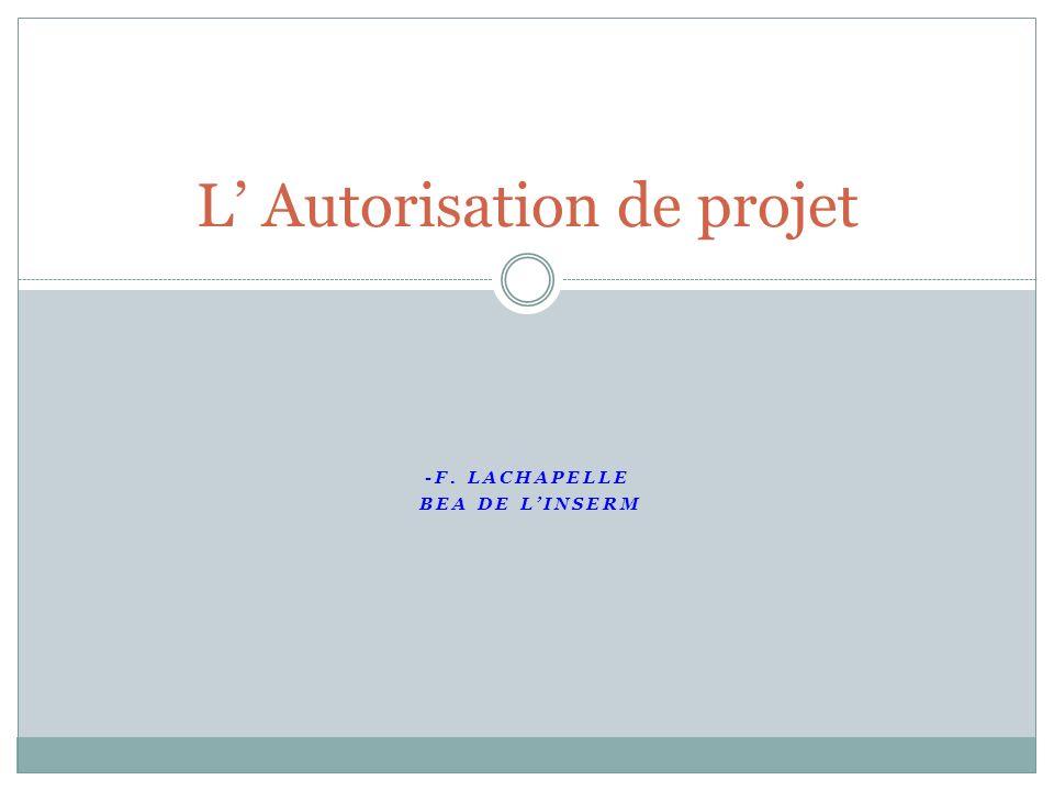 L' Autorisation de projet