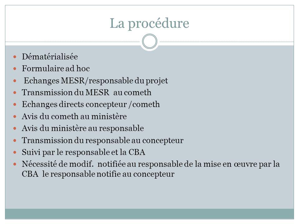 La procédure Dématérialisée Formulaire ad hoc