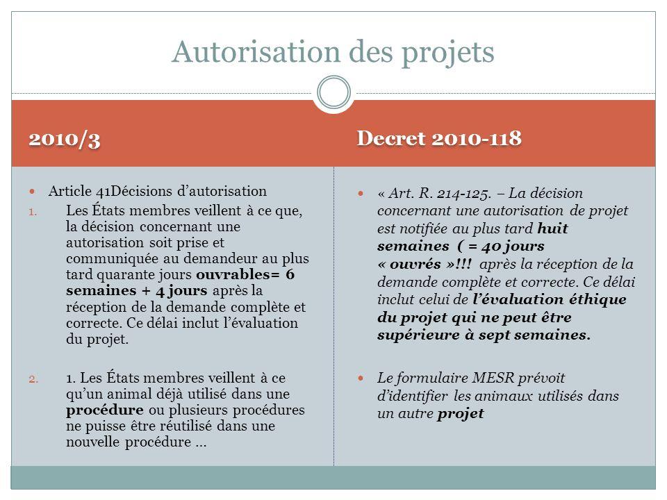 Autorisation des projets