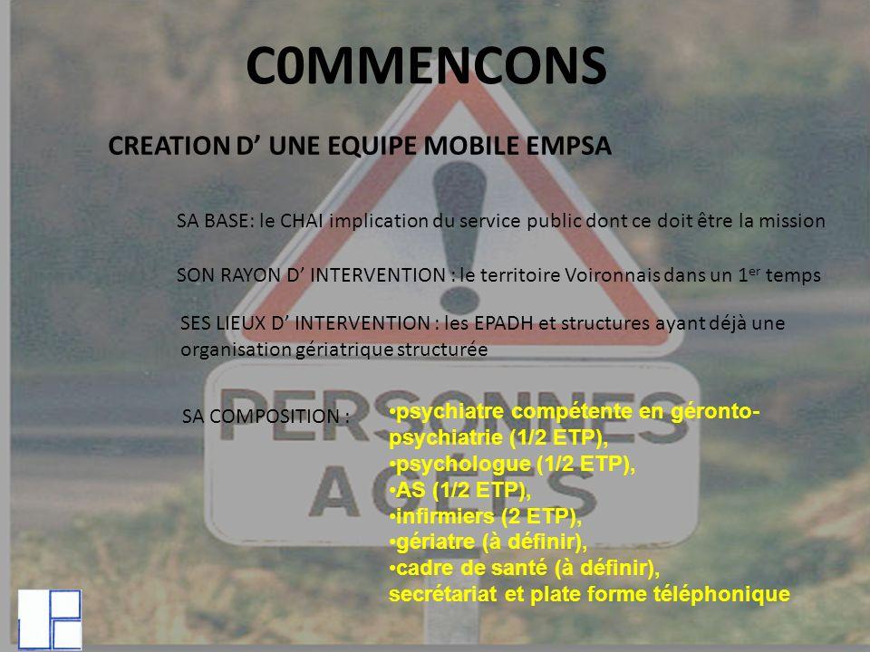 C0MMENCONS CREATION D' UNE EQUIPE MOBILE EMPSA