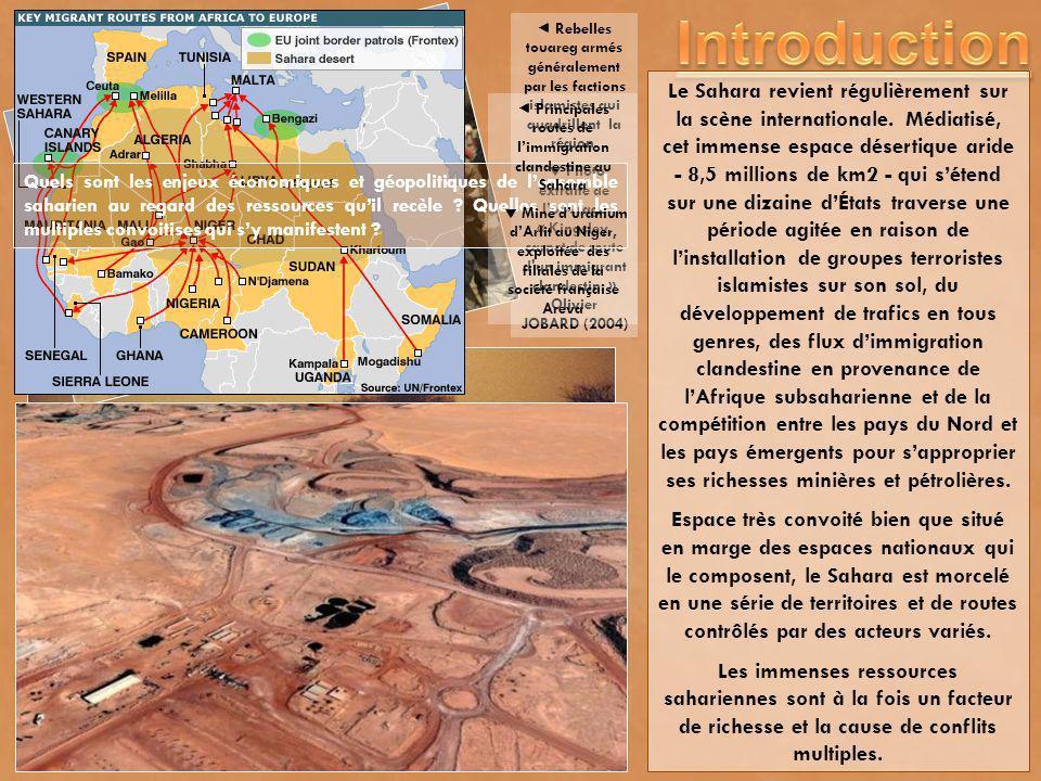  Principales routes de l'immigration clandestine au Sahara