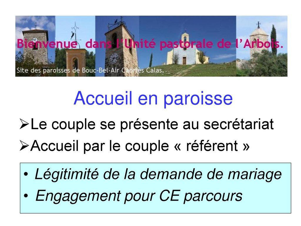accueil église mariage