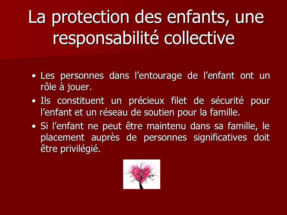 La protection des enfants, une responsabilité collective