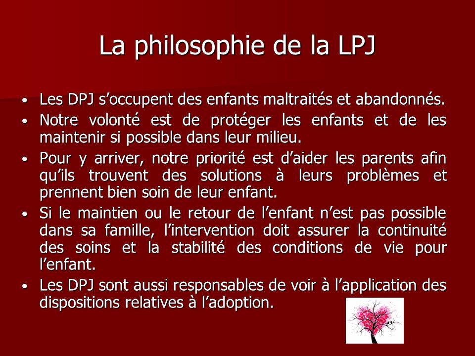 La philosophie de la LPJ