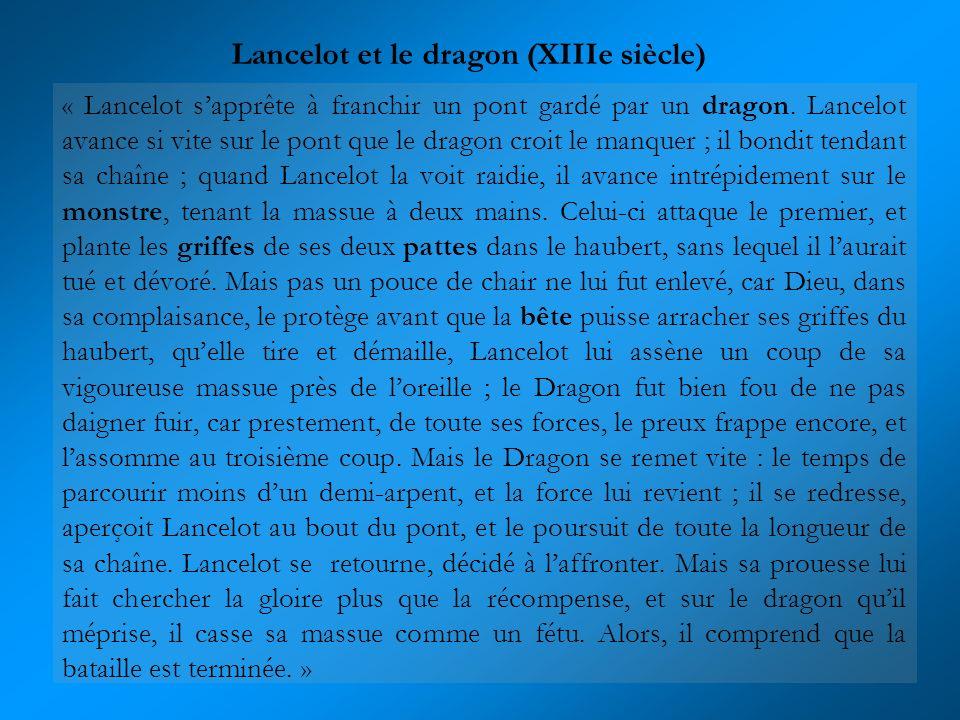 Lancelot et le dragon (XIIIe siècle)