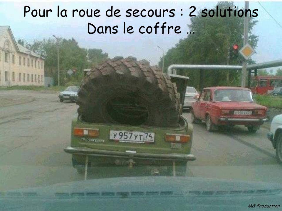 Pour la roue de secours : 2 solutions Dans le coffre …