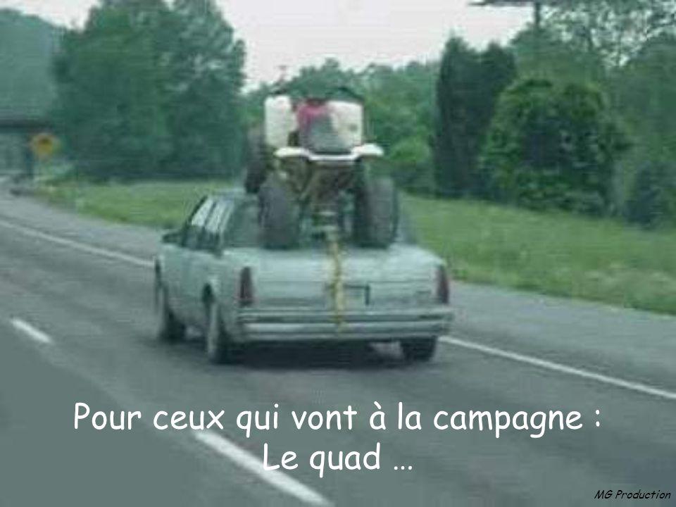 Pour ceux qui vont à la campagne : Le quad …