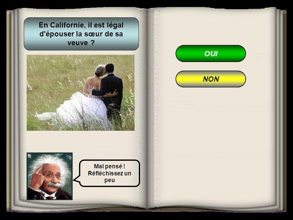 En Californie, il est légal d épouser la sœur de sa veuve