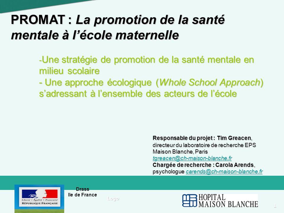 PROMAT : La promotion de la santé mentale à l'école maternelle