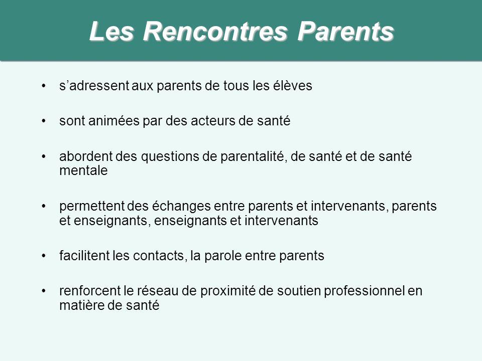 Les Rencontres Parents