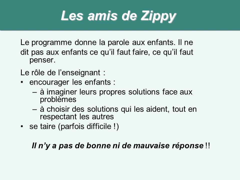 Les amis de Zippy Le programme donne la parole aux enfants. Il ne