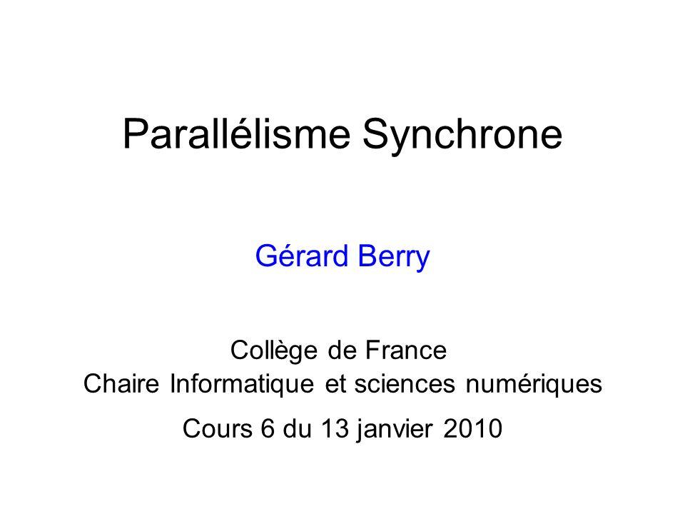 Parallélisme Synchrone