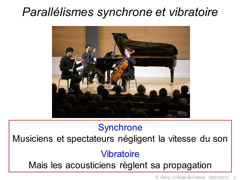 Parallélismes synchrone et vibratoire