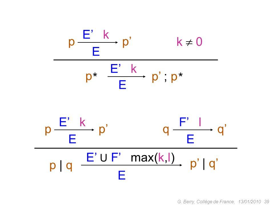 p E E' k p' k  0 p' ; p * p E E' k p' q F' l q' p | q