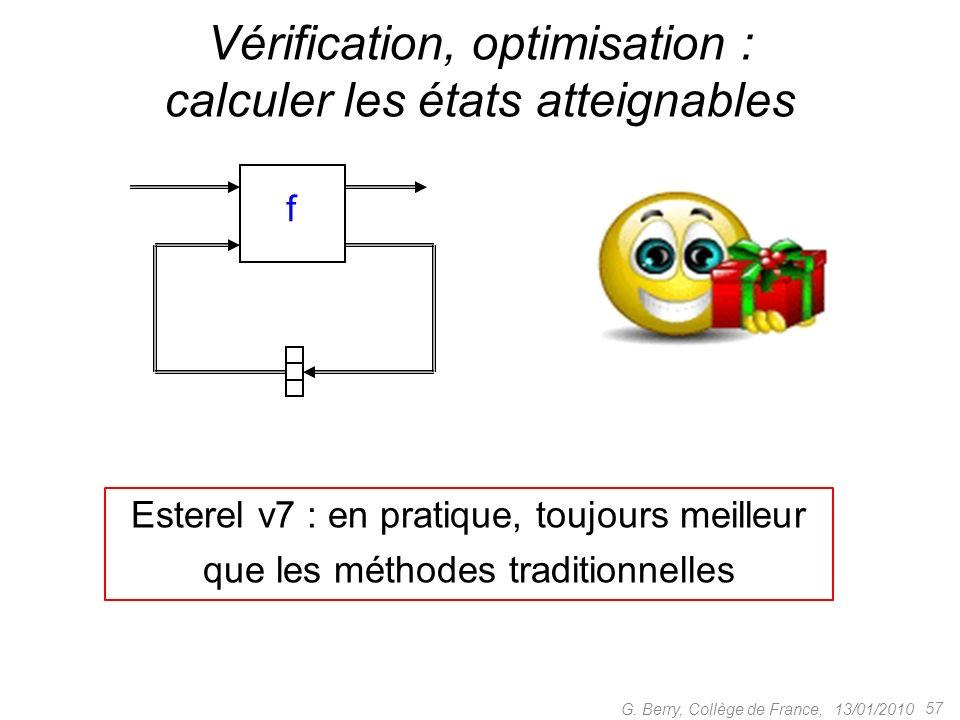 Vérification, optimisation : calculer les états atteignables