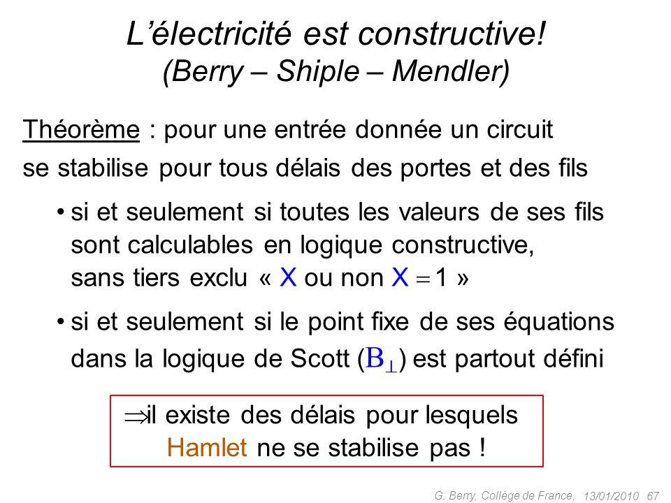 L'électricité est constructive! (Berry – Shiple – Mendler)