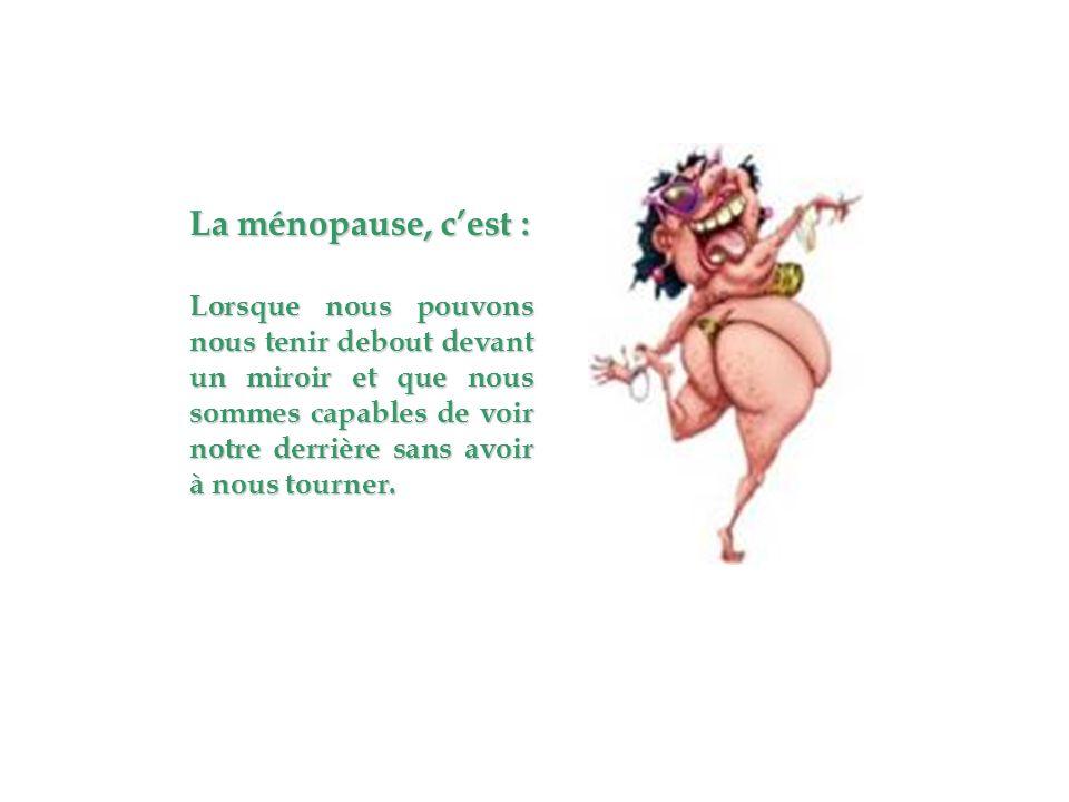 La ménopause, c'est :
